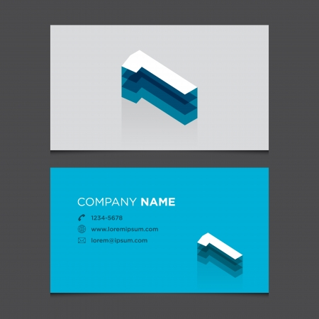 Business card with alphabet number 1  Vector template editable  Vintage design   Vector
