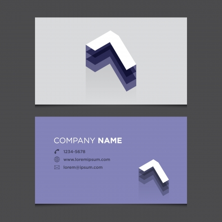 Business card with alphabet number 7  Vector template editable  Vintage design   Vector