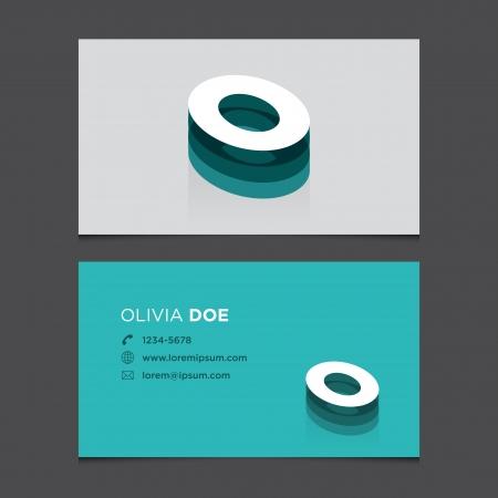 s e o: Business card with alphabet letter O  Vector template editable  Vintage design   Illustration