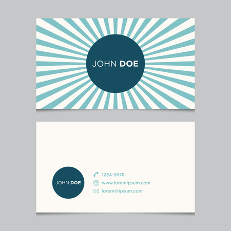 Business card template, background pattern vector design editable
