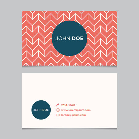 Business card template, background pattern vector design editable Vector