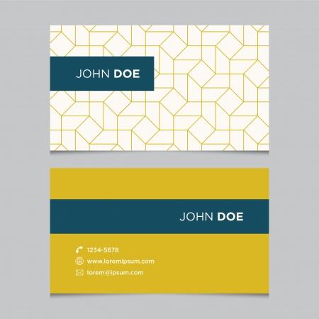 business card design: Business card template, background pattern vector design editable
