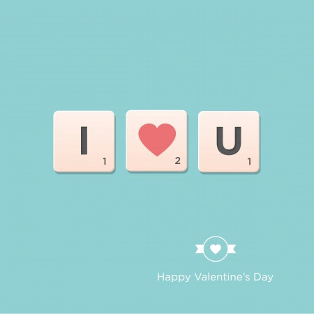 unusual valentine: Valentine s day card  Letter alphabet  Vector design editable