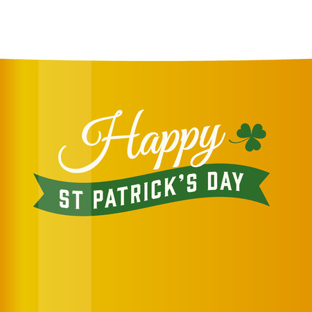 Happy Saint Patricks day card, beer vector background Vector
