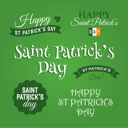Happy Saint Patricks day, vector design elements Vector