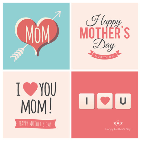 love you: Happy mothers day cards