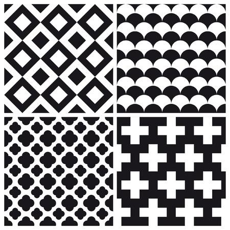 set of geometric pattern background Illustration
