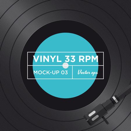 rpm: Vinyl record 33 RPM mock up  Illustration