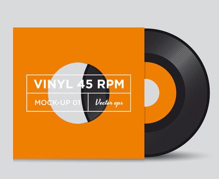 rpm: Vinyl record 45 RPM mock up
