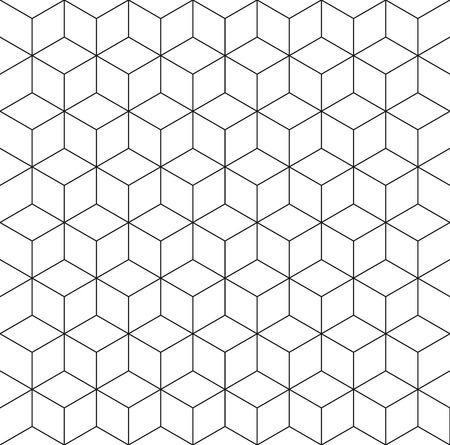 패턴 큐브 배경 일러스트