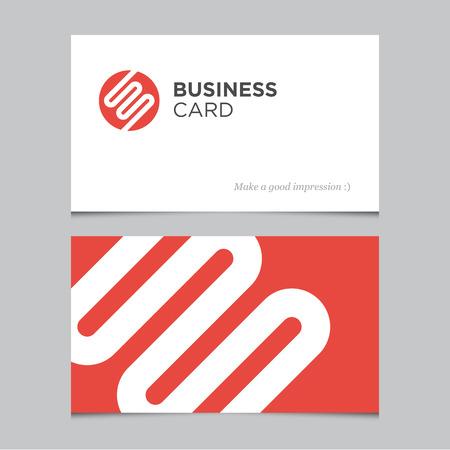 namecard: Business card template Illustration