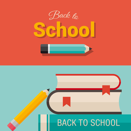 school kid: Back to school, design elements  Illustration