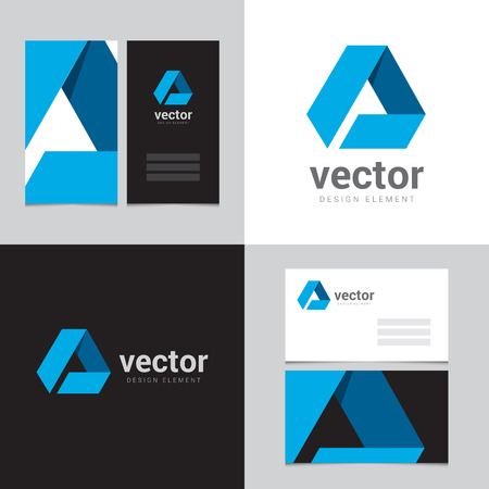 Design element with two business cards - 01 Vector