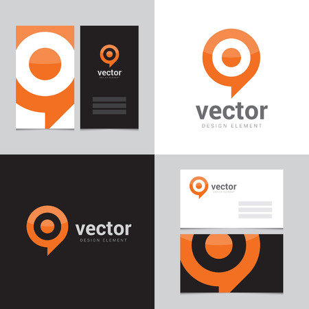 Design element with two business cards - 02 Vector