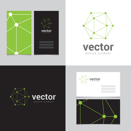 Design element with two business cards - 03 Vector