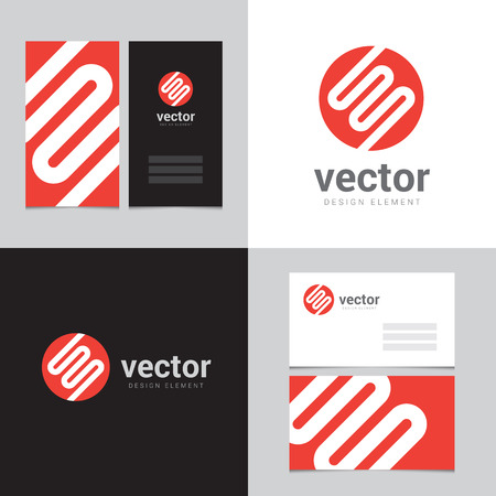 Design element with two business cards - 04 Vector