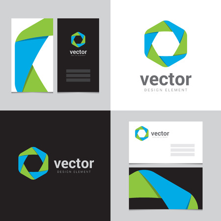Design element with two business cards - 06 Vector