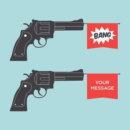 game gun: toy gun illustration vector