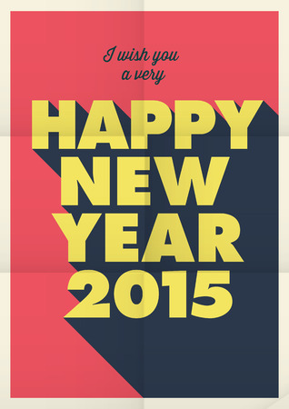 new year poster: Happy new year poster, retro vintage style