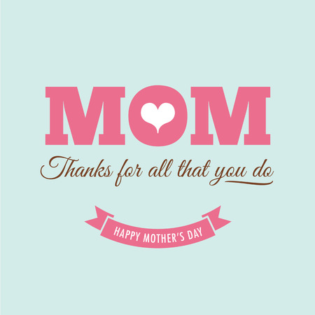 happy people: Mothers day card with quote : Thanks for all what you do