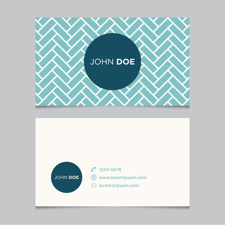 business card template: Business card template with background pattern