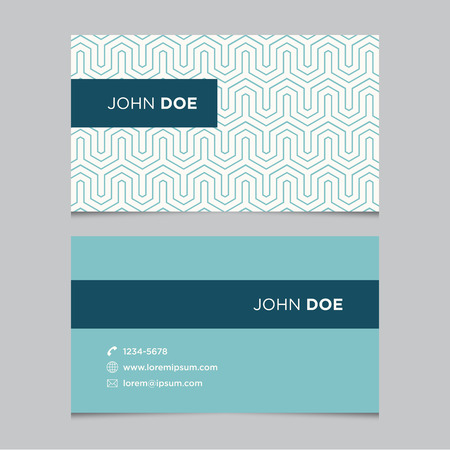 Business card template with background pattern