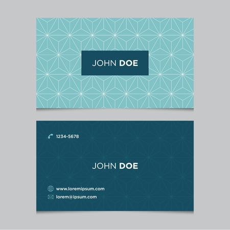 Modèle de carte d'affaires avec motif de fond Banque d'images - 38922779