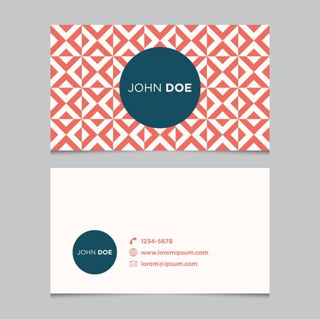 fashion label: Business card template with background pattern