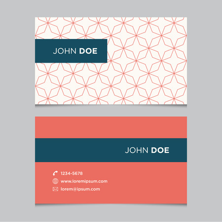 blank business card: Business card template with background pattern