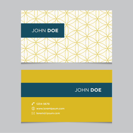 business: Business card template with background pattern