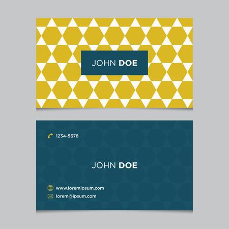 Modèle de carte d'affaires avec motif de fond Banque d'images - 38922785