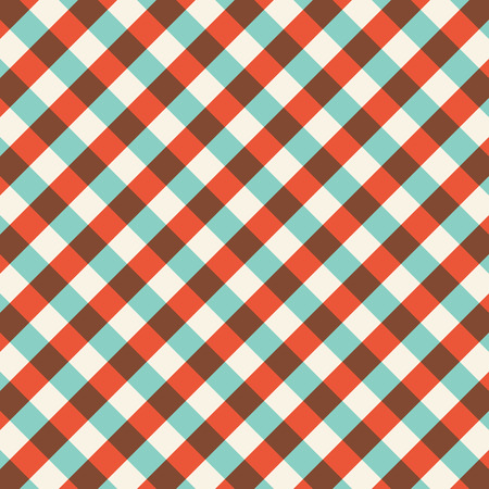 gingham pattern: Colorful gingham tablecloth pattern background. Vintage vector pattern.