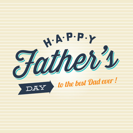 happy people: Fathers day card badge signs and symbol