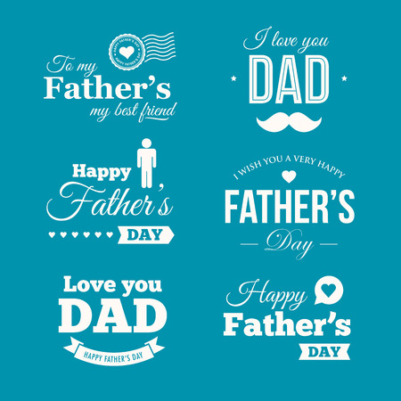 happy Fathers Day: Padres felices signos insignia d�a y s�mbolos