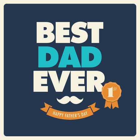 Vaders dag kaart beste papa ooit Stockfoto - 39586153