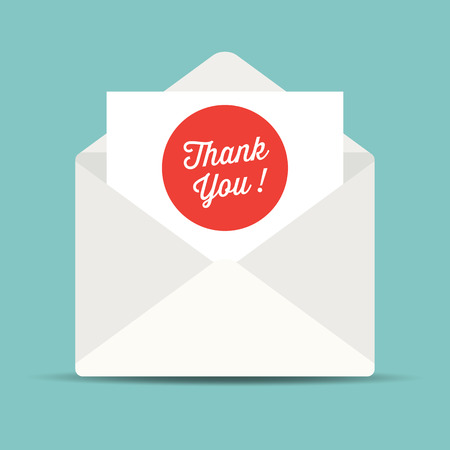 thank you card: envelope mail, thank you card.