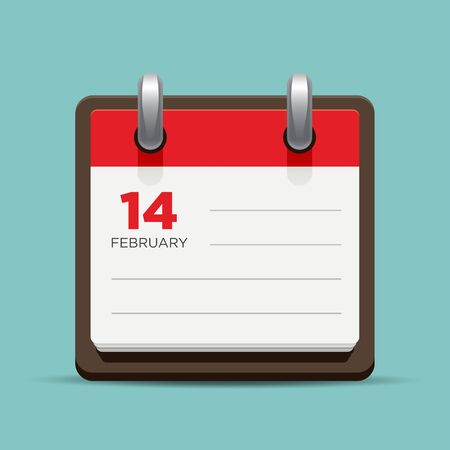 agenda: Calendar agenda illustration. Illustration