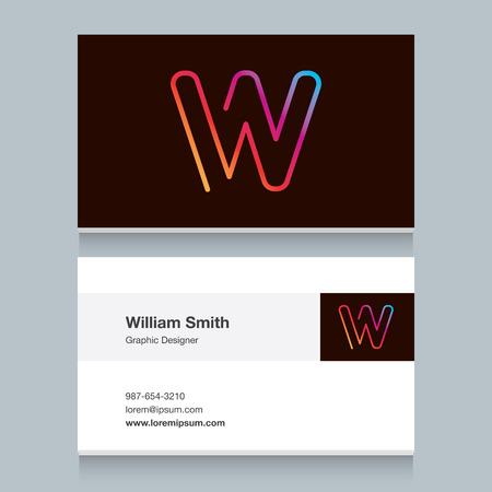 """Logo lettre """"W"""" avec le modèle de carte de visite de l'alphabet. Vector design graphique éléments pour le logo de votre entreprise. Banque d'images - 40042605"""