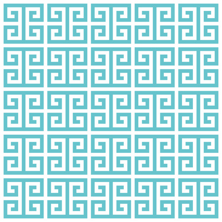 arte greca: Motivo di sfondo a greca. Vector verde blu