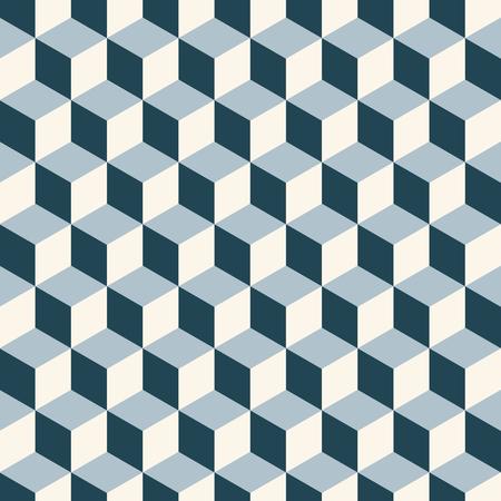 Cubes 3d pattern background. Retro vector pattern. Illustration