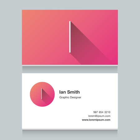 letter i: Logo alphabet letter I, with business card template. Vector graphic design elements for your company logo.