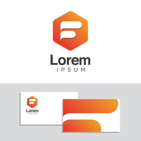 logo marketing: Logo design elements with business card template. Vector graphic design elements for company logo.