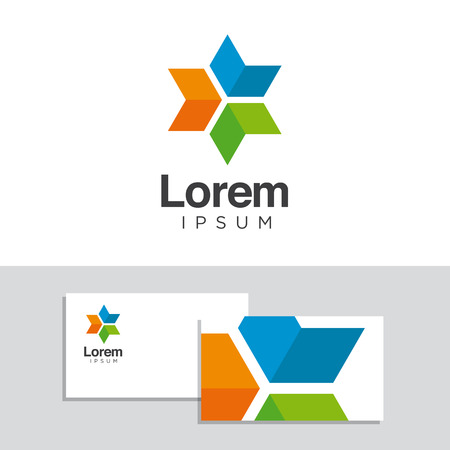 company logo: Logo design elements with business card template. Vector graphic design elements for company logo.