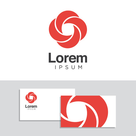 graphic elements: Logo design elements with business card template. Vector graphic design elements for company logo.