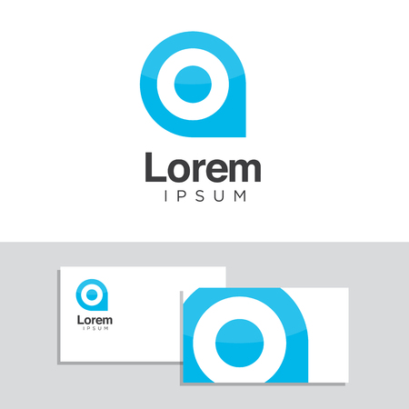 üzlet: Vector graphic design elements with business card template. Illusztráció