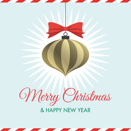 Christmas card with christmas ball Vettoriali