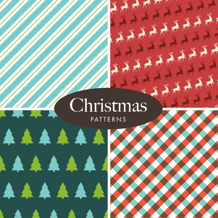 greeting card vector: Christmas patterns. Editable vector design.