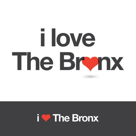 borough: I love The Bronx. Borough of New York city. Editable vector design.