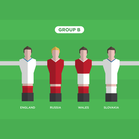 Table Football (Soccer) players, France 2016, group B.