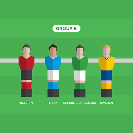 groupe: Table Football (Soccer) players, France 2016, group E.